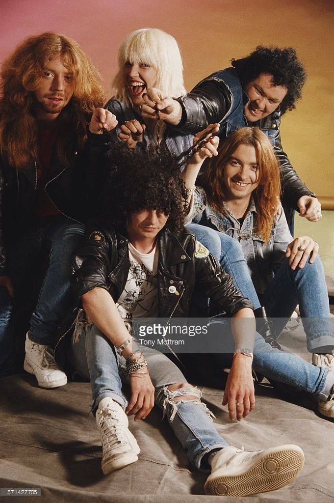 Portrait Of Punk Thrash Metal Band Sacrilege 1980s Among Those Pictured