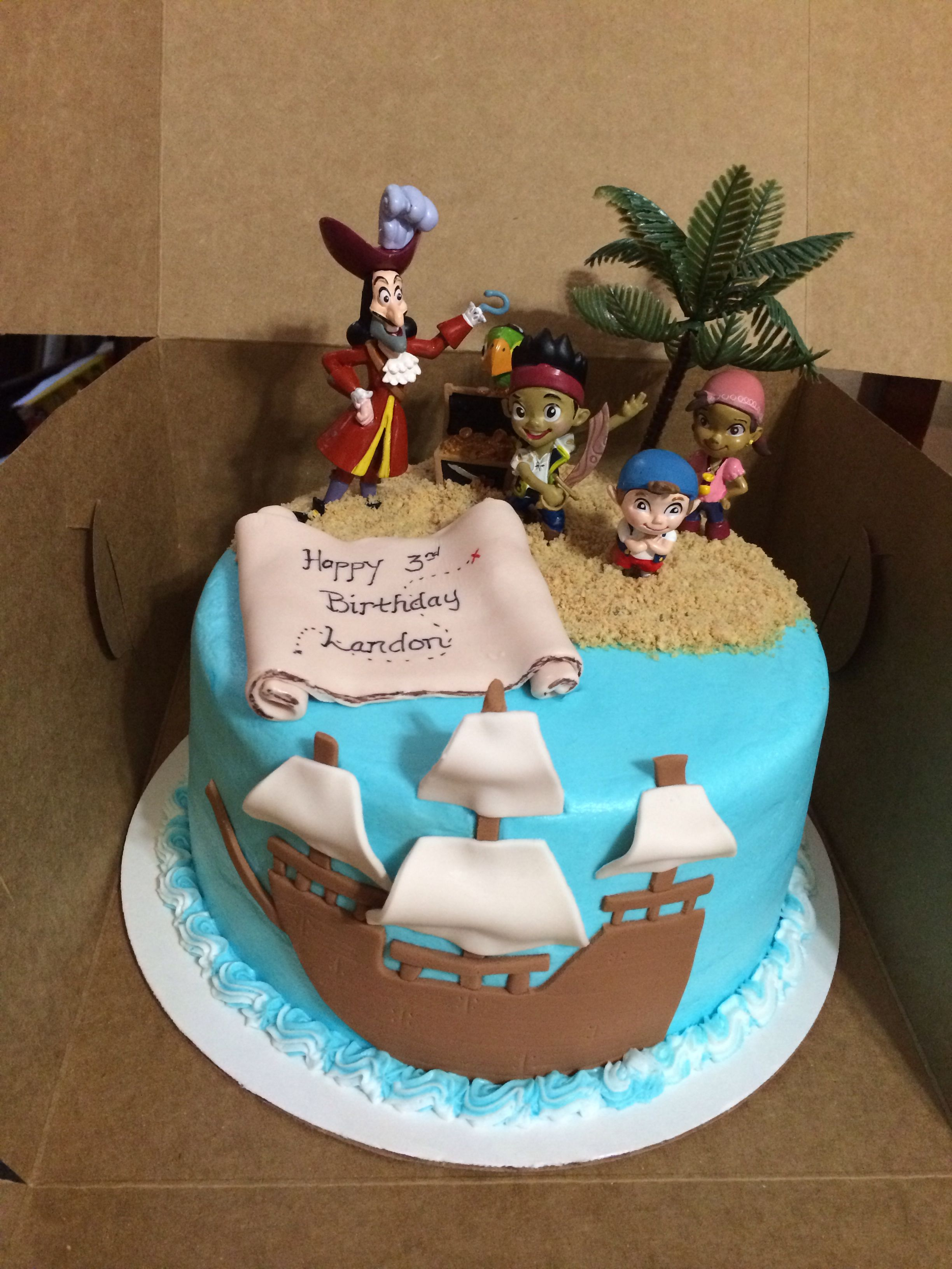Swell Landons Birthday Cake Jake And The Neverland Pirates Cake Funny Birthday Cards Online Alyptdamsfinfo