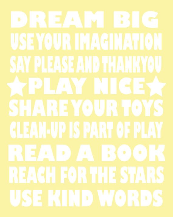 Playroom Rules Children's Fine Art Poster Print by coutureprints, $18.00