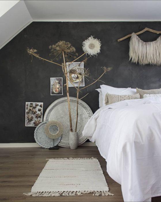 Inspiratie & tips voor een betonlook muur in huis #slaapkamerideeen