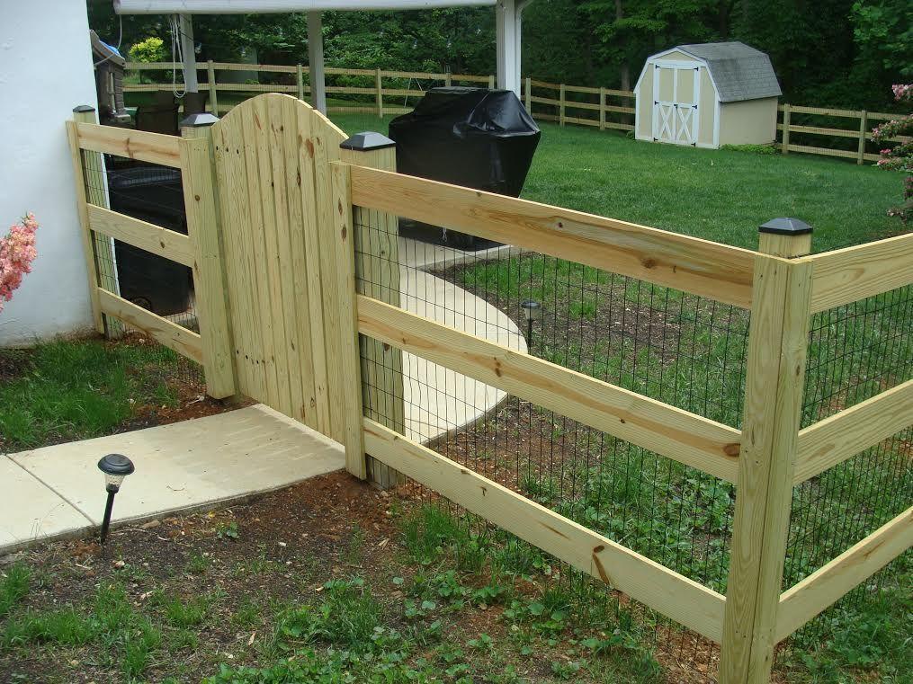 3 wood 3 board paddock fence w mesh board fence mesh