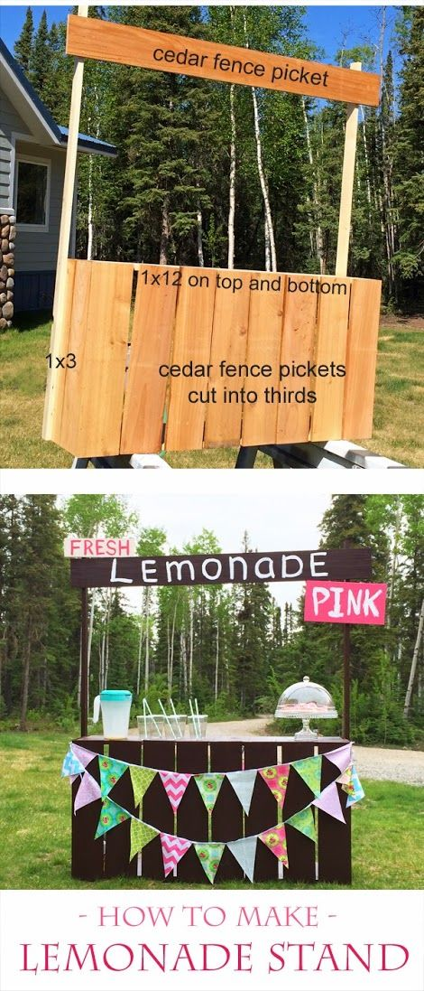 Diy lemonade stand from fence pickets tutorial from ana for How to build a lemonade stand on wheels