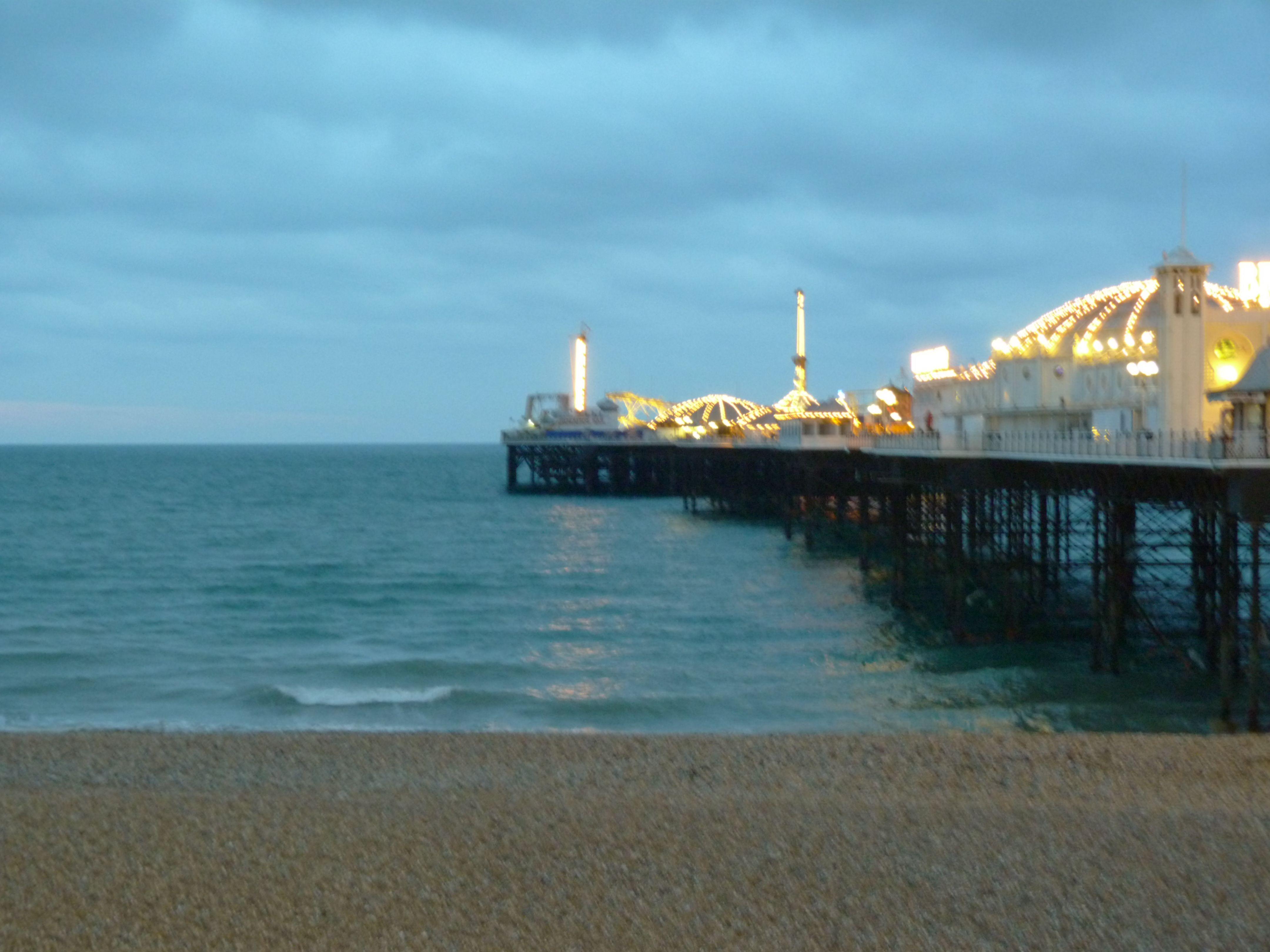 Brighton pier in the winter.