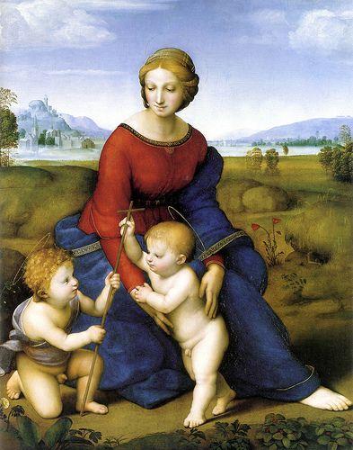 Belvedere Madonna RAFFAELLO (Urbino, 28 marzo o 6 aprile 1483 – Roma, 6 aprile 1520)  #TuscanyAgriturismoGiratola