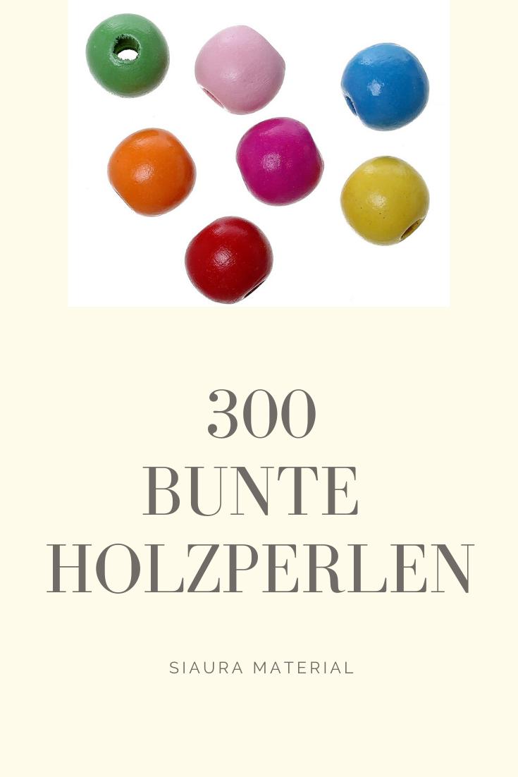 100 Stück Bunte Perlen Handwerk Perlen für DIY Blumen Perlen Schnur,