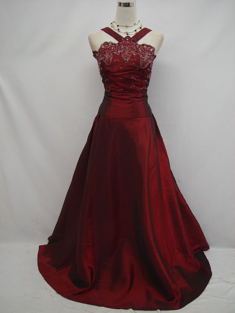 Cherlone Plus Size Red Ballgown Bridesmaid Formal Weddingevening