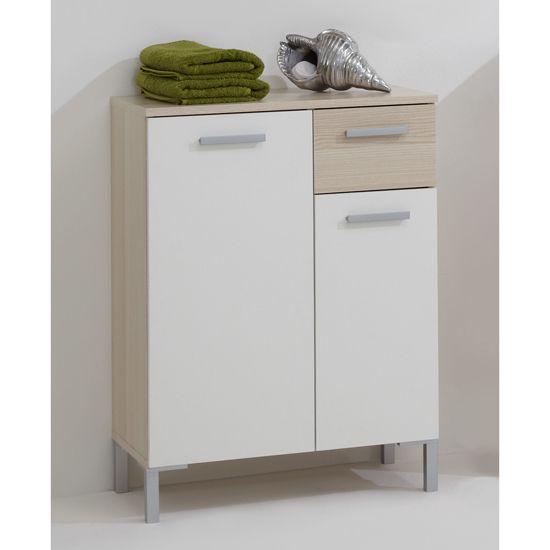 Lerida2 Floorstanding Bathroom Cabinet In Ashtree White Bathroomcabinet Furnitureinfashion 79 95