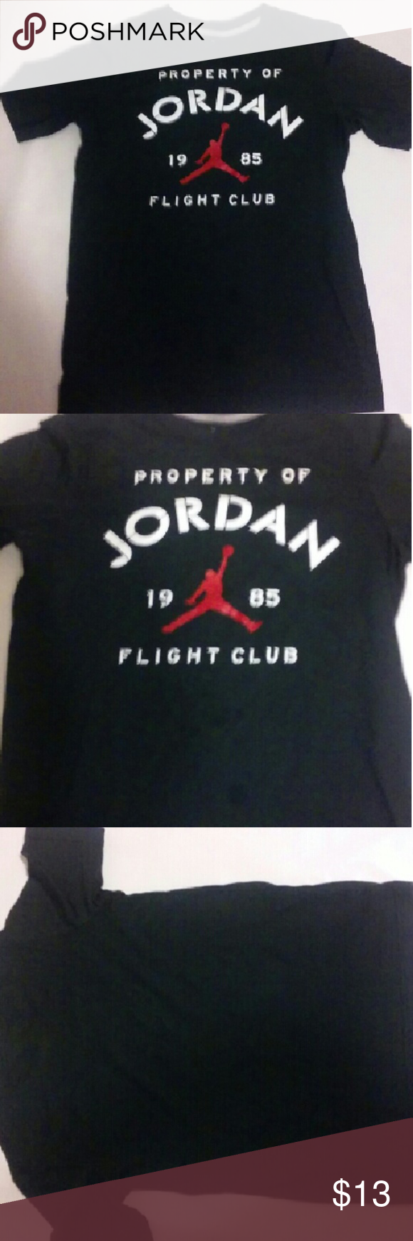 14e0509ce2deb1 Boys Jordan tshirt black size large 12-13 years Measurements Armpit to  armpit 18in Length 24in Jordan Shirts   Tops Tees - Short Sleeve