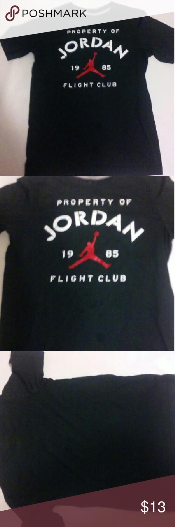Boys Jordan tshirt black size large 12-13 years  Measurements Armpit to armpit 18in Length 24in Jordan Shirts & Tops Tees - Short Sleeve