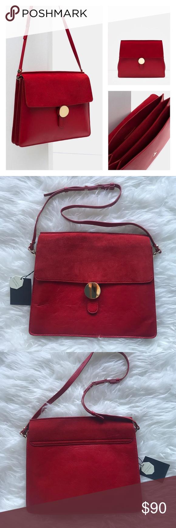 Zara authentic leather suede bag NWT   My Posh Picks   Pinterest ... f8bb7f48de