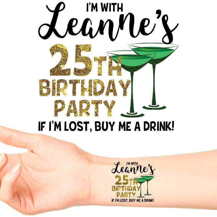 24 Henna Tattoos By Rachel Goldman You Must See: Personalised Birthday Temporary Tattoo #120 (24 Pack
