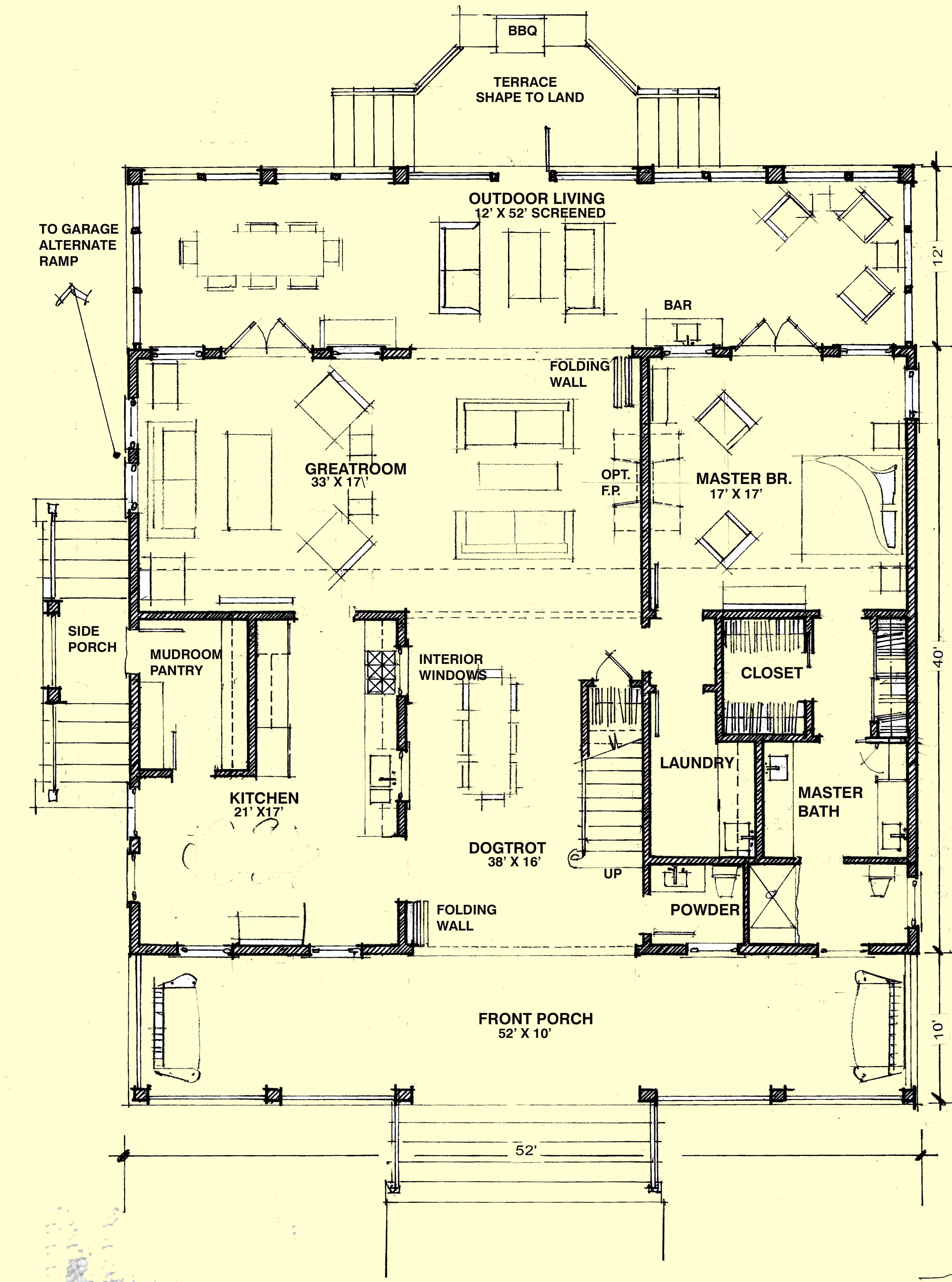 Hot Humid Solutions Southern House Plans Dog Trot House Plans Dog Trot Floor Plans