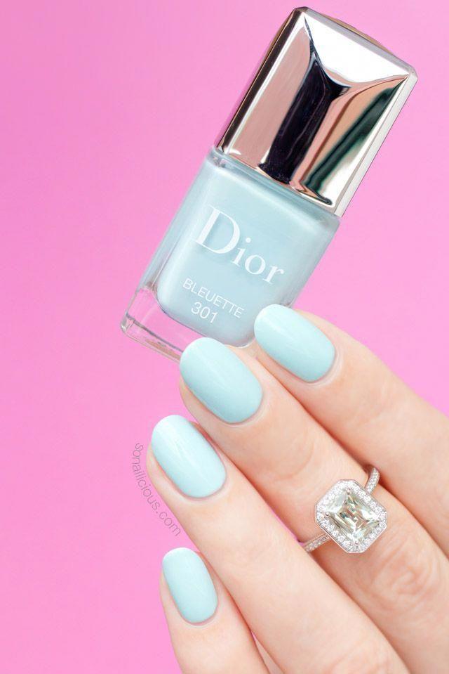 Photo of So pretty! Dior Bleuette – light blue nail polish, perfect for any season #paste…
