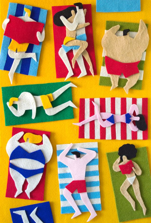 Fuzzy Felt Artworks / 2012 by Jacopo Rosati, via Behance