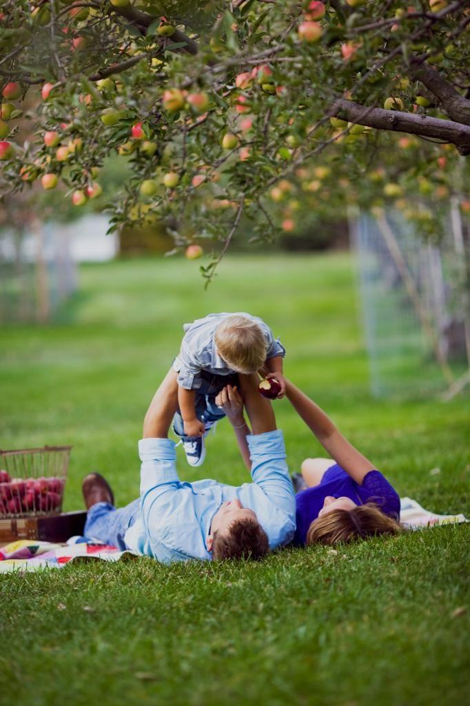 apple orchard photo shoot at play photo Family