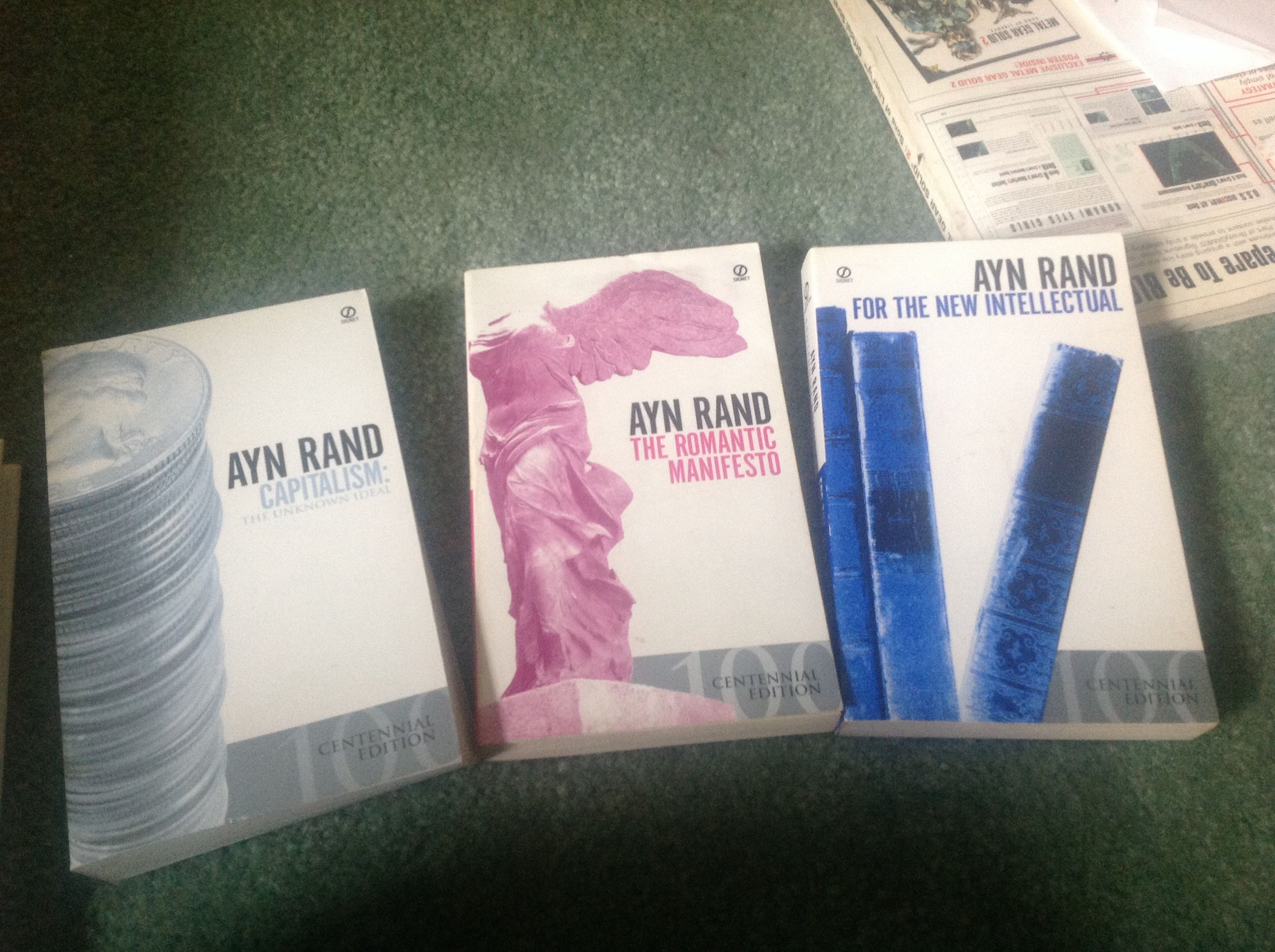 Ayn Rand Libros Ayn Rand Capitalism The Romantic Manifesto And For The
