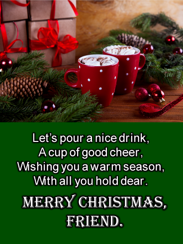 Christmas Cocoa Merry Christmas Card For Friends Birthday Greeting Cards By Davia Wish You Merry Christmas Happy Christmas Day Merry Christmas Friends