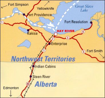 Hay River NWT The northern most stop of continuous rail in North
