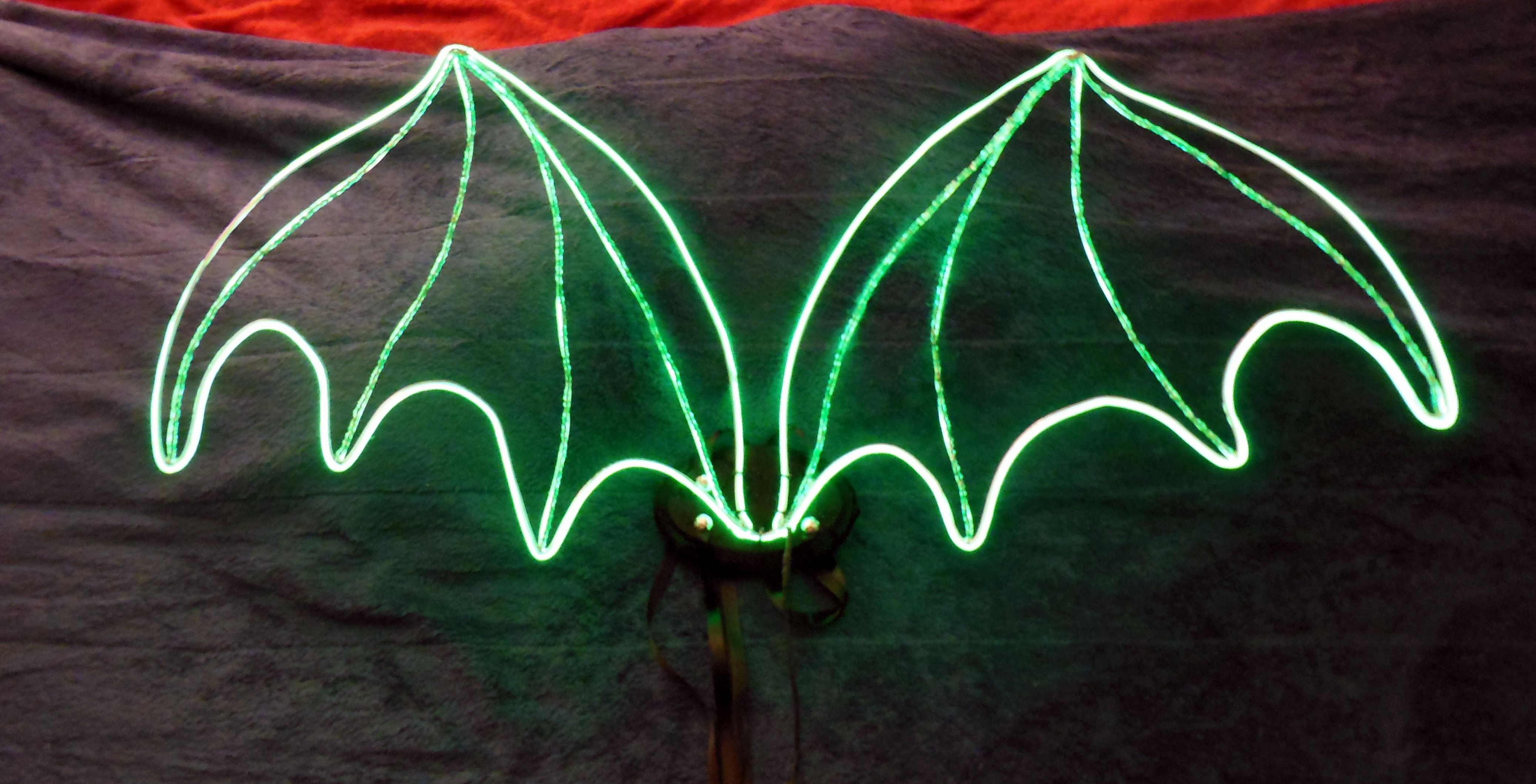 New dragon wings with el wire all aglow. :) | DIY | Pinterest