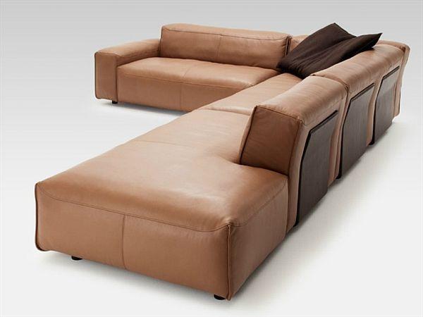 Ledersofa schwarz rolf benz  Elegant Rolf Benz Corner Sofa
