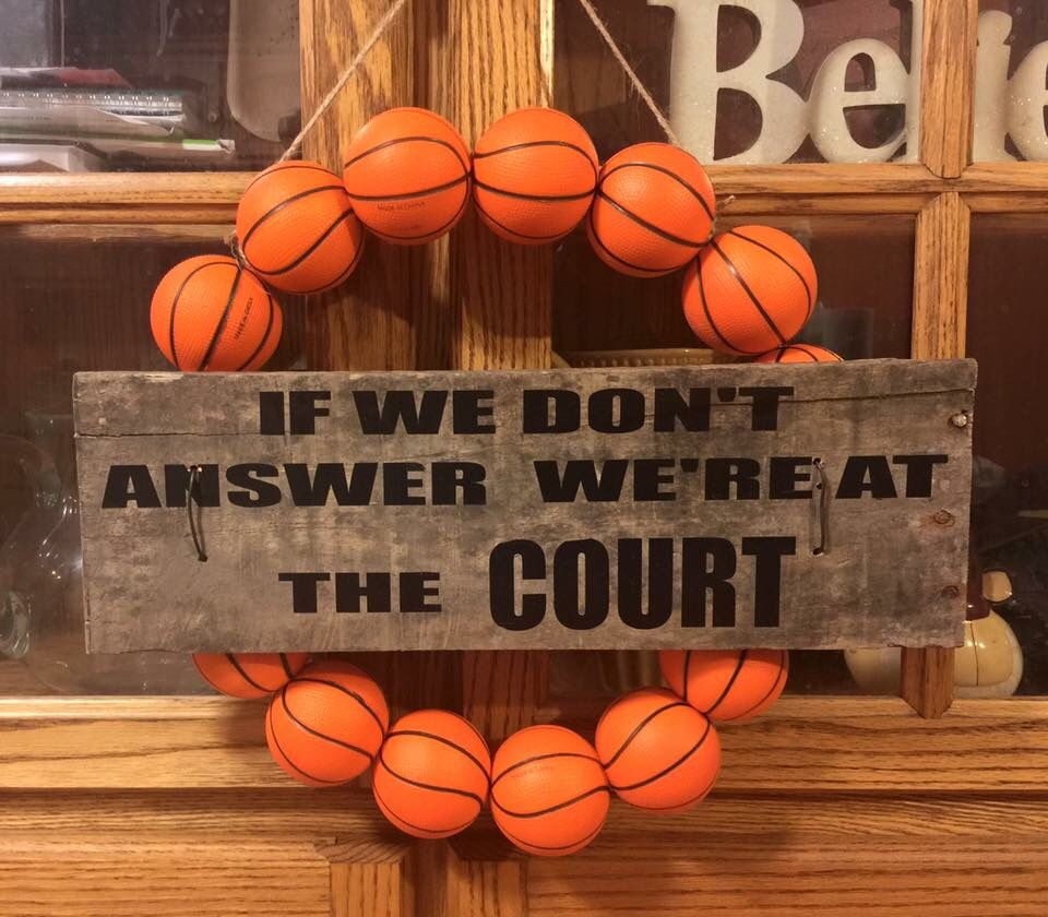 Motivational Quotes For Sports Teams: Basketball Wreath!!