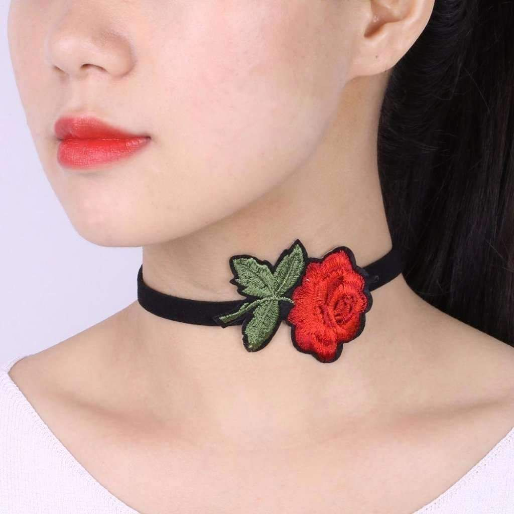 Bohemian Boho Flower Embroidered Choker Necklaces