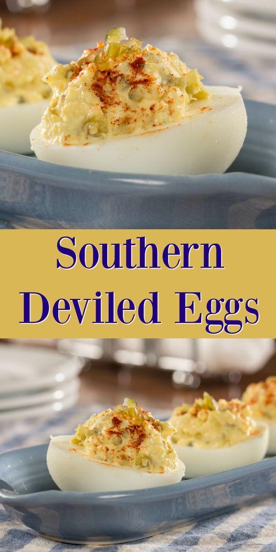 Southern Deviled Eggs #deviledeggs