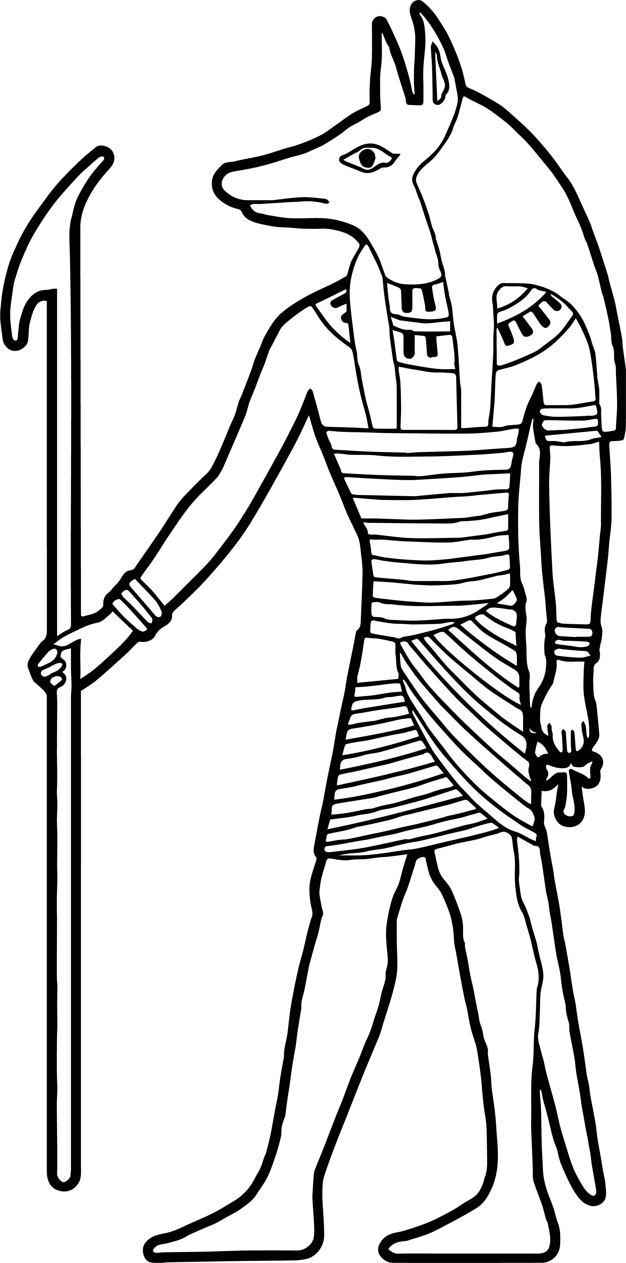 Cool Ancient Egypt Animal Face Statue Coloring Page Egypt