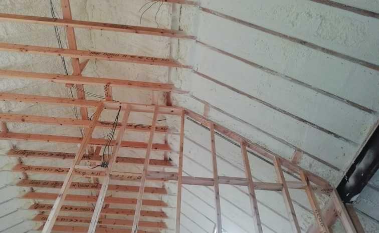 Roof Attic New Build With Spray Foam Insulation With Images Foam Insulation Spray Foam Insulation Spray Foam