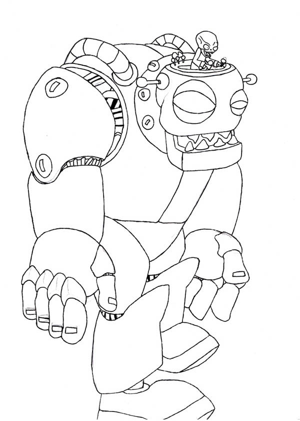 Plant Vs Zombie Robot Coloring Page Coloring Sky In 2020 Animal Coloring Pages Coloring Pages Valentines Day Coloring Page