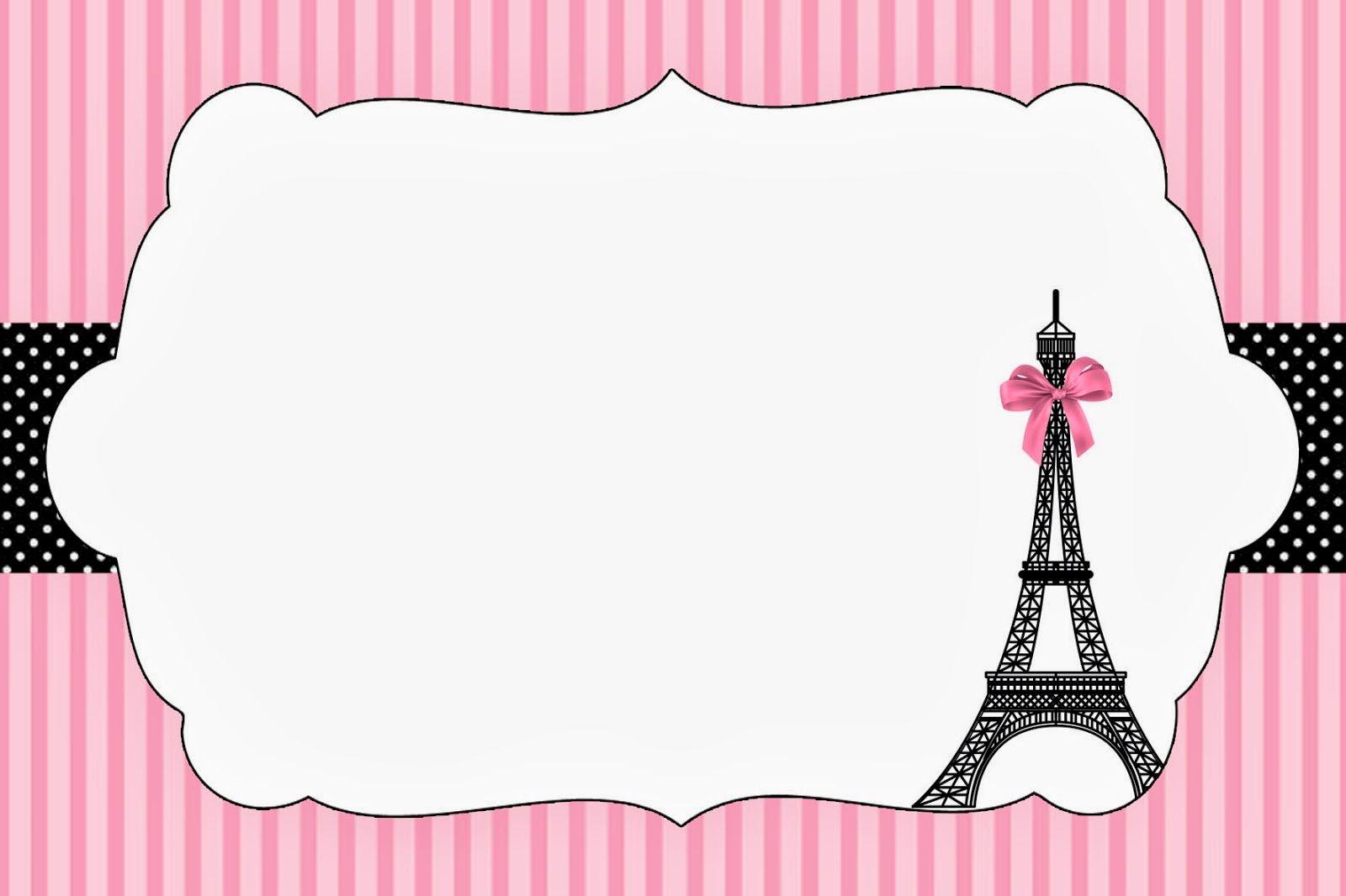 Paris: Invitations and Free Party Printables.   Ideas para Fiesta ...