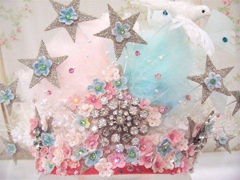 pink & aqua tiara