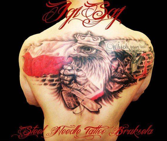 Polski Orzeł Tatuaż Patriotyczny Tattoo Tattoos Pomysły