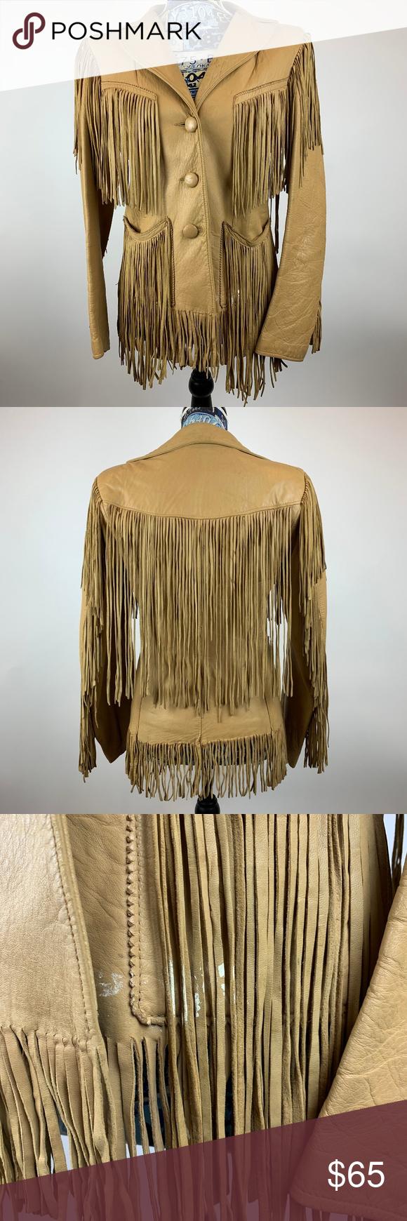 Vintage Western Fringe Womens Leather Jacket Very cool