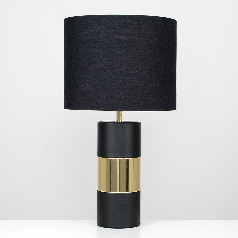 Danilo Gold Touch Lamp With Black Shade Iconic Lights Touch Lamps Bedside Touch Table Lamps Touch Lamp