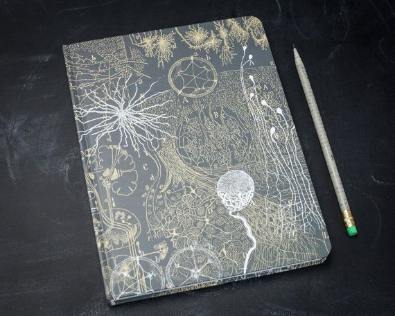 Neurons Vintage Large Hardcover Journal Grid by