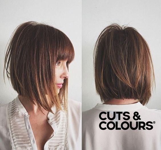 A Symmetrische Bob Halflang Haar Cuts Colours Choppy Bob