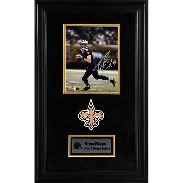 "Drew Brees New Orleans Saints Fanatics Authentic Deluxe Framed Autographed 8"" x 10"" Black Scrambling Photograph - $379.99"
