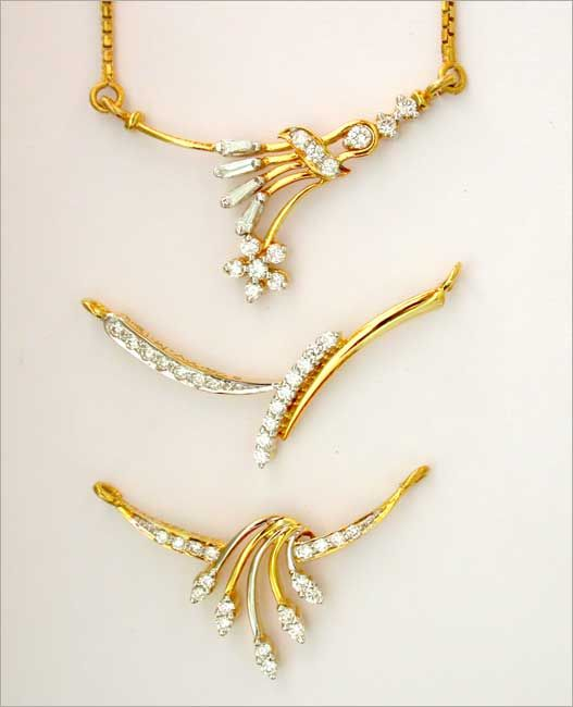 Indian Gold Jewellery Necklace Sets Google Search: Mangalsutra Design In Diamond - Google Search