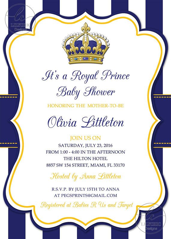 royal prince baby shower invitations - little prince baby shower invitation printable