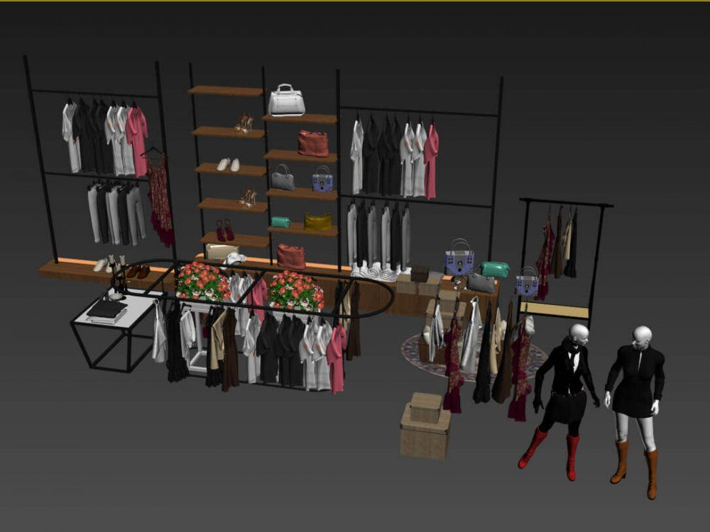Fashion Shop Interior 3D Model | Free 3D Models in 2019