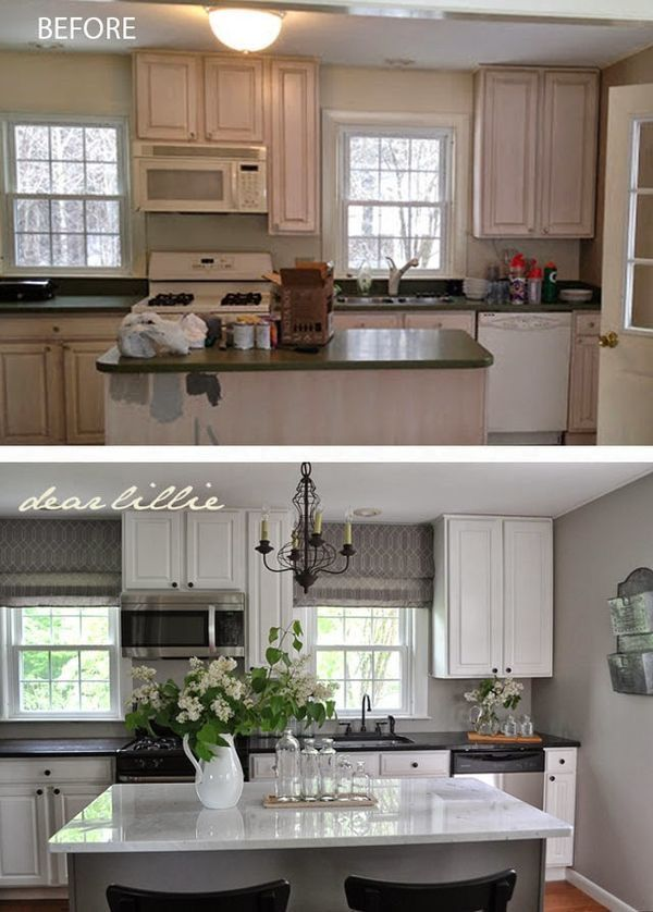 Great DIY Farmhouse Kitchen Remodel Ideas Before And After