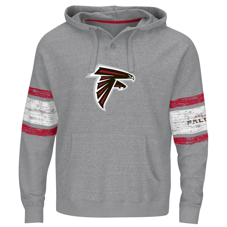 Men S Atlanta Falcons Majestic Heather Gray Winning Method Pullover Hoodie Hoodies Pullover Hoodie Pullover