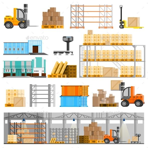 Warehouse Icons Set - Concepts Business in 2019 | Warehouse ... on floor plans garage, floor plan for transportation company, electrical plan for warehouse, building plans for warehouse, floor plans retail,