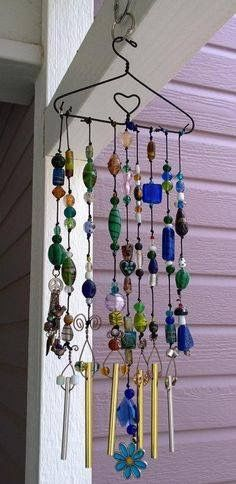 Coat Hanger Craft Wind Chimes Diy Wind Chimes Wire Hanger Crafts