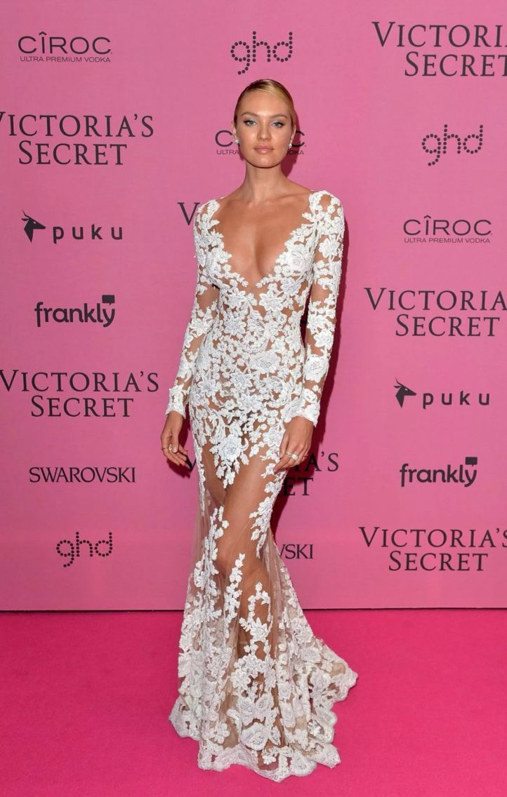 Victoria\'s Secret model, Candice Swanepoel on the red carpet at the ...