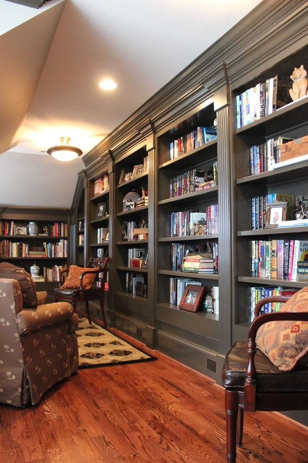 Amazing Home Libraries: Amazing Home Library Design Ideas With Rustic Style 32 In