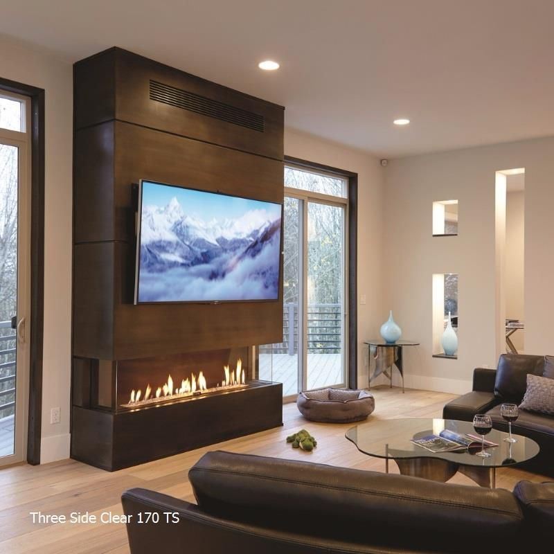 Three Side Gas Fireplace Collection Gas Fireplace Living Room