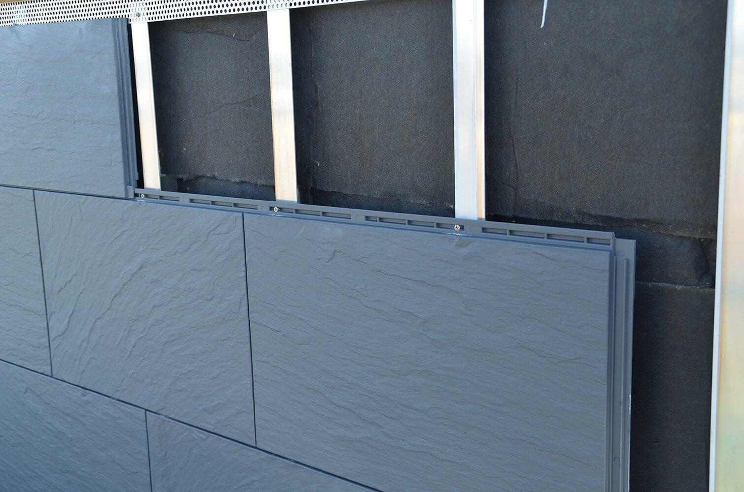 Kaufe Zierer Fassadenplatten Schiefer Optik Ss1 Gfk Anthrazit Von Zierer In 2020 Outdoor Storage Box Outdoor Decor Facade