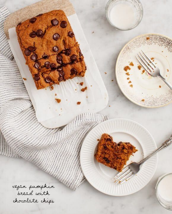 Pumpkin Bread The BEST Pumpkin Bread recipe ever! Studded with chocolate chips, it's moist, sweet but not too sweet, and full of pumpkin spice flavor. SO delicious. | Love and Lemons